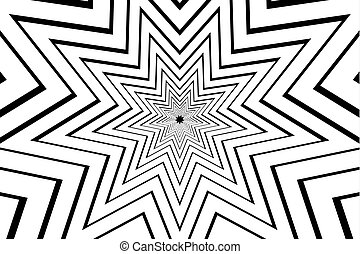 estrella, puntiagudo, vector, nueve, negro, resumen