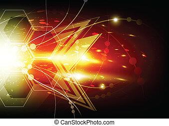 estrella, resumen, explosión, plano de fondo