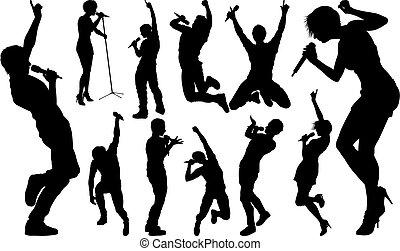estrella, roca, siluetas, país, taponazo, cantantes, hiphop