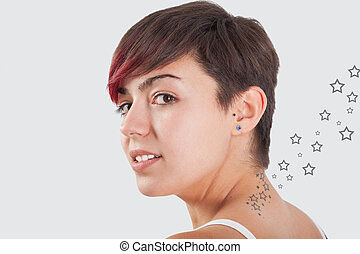 estrella, tatuaje