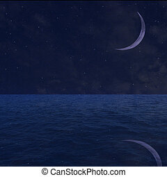 estrellado, cielo de la noche, plano de fondo