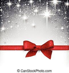 estrellado, invierno, navidad, fondo.