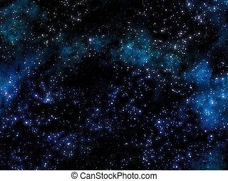 estrellado, nebulosa, cielo