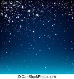 estrellado, noche