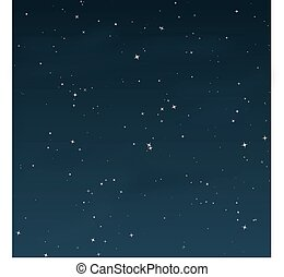 estrellado, noche, -, vector