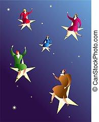 estrellas, alcanzar