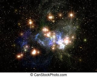 estrellas, ans, espacio