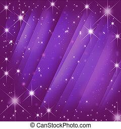 estrellas, brust, en, movimiento, rosa, mancha, rayo,...