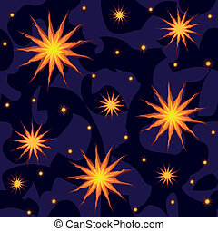 estrellas, cielo, seamless, plano de fondo, noche