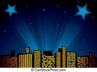 estrellas, en, cielo