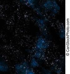 estrellas, en, espacio exterior