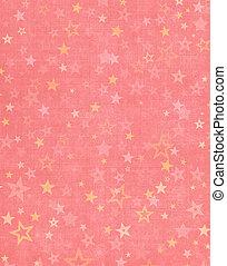 estrellas, en, fondo rosa