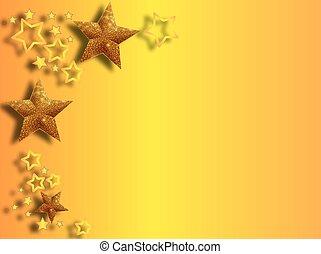 estrellas, lado, plano de fondo