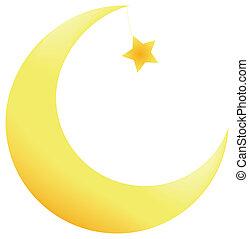 estrellas, luna