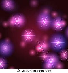 estrellas, plano de fondo, en, violeta