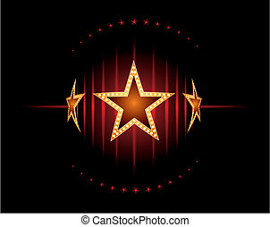 estrellas, rojo