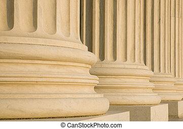 estriado, columnas