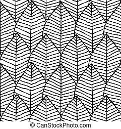 estructura, patrón, negro, seamless, primitivo, blanco