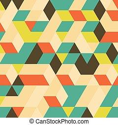 estrutura, blocos, experiência., 3d