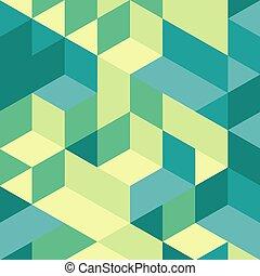estrutura, blocos, fundo, 3d