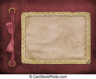 estrutura, para, um, foto, ou, invitations., um, vinous, bow., um, bonito, experiência.