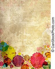 estuco, textura, viejo, pared, pintura, manchas
