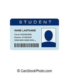estudante, cartão id