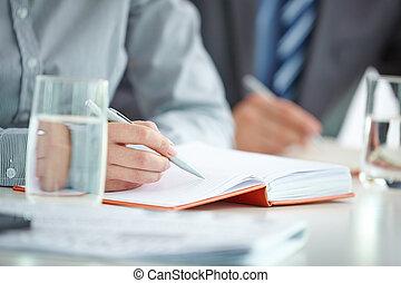 estudante, fazer anota