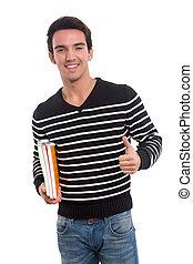 estudante, feliz