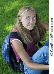 estudante menina