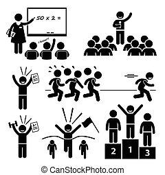 estudante, topo, melhor, especiais, criança
