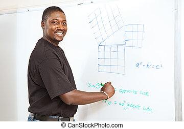 estudante universitário, -, avançado, matemática