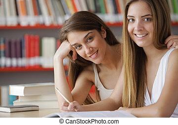 estudantes, amigável