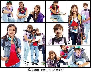 estudantes colégio