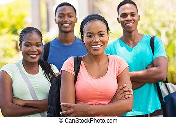 estudantes, faculdade, africano