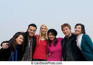 estudantes, grupo