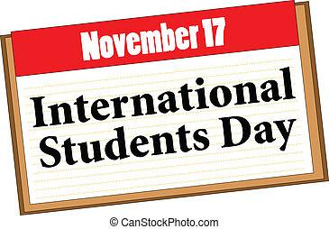 estudantes, internacional, dia