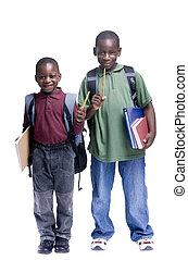 estudantes, masculino jovem