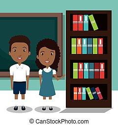 estudantes, sala, classe