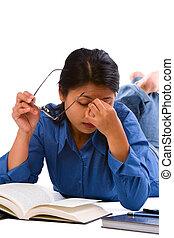 estudar, após, cansadas