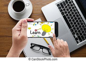 estudar, conceito, Educação, aprendizagem, aprender
