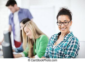 estudar, escola, computador, estudante