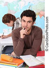 estudar, estudante, classroom.