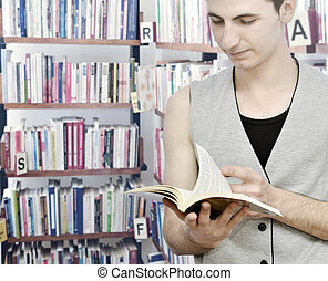 estudar, homem jovem