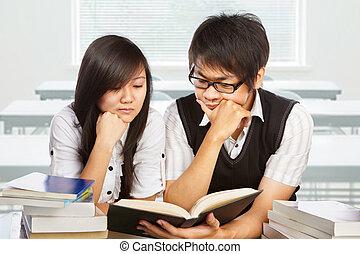 estudar, junto