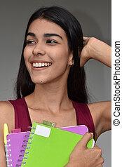 estudiante femenino, feliz