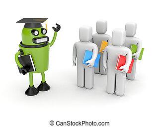 estudiantes, conferenciante, o, académico