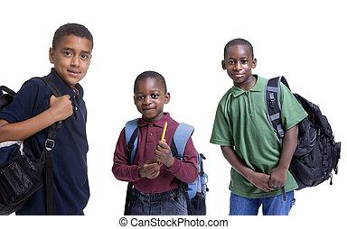 estudiantes, norteamericano, africano