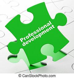 estudiar, concept:, profesional, desarrollo, en, rompecabezas, plano de fondo