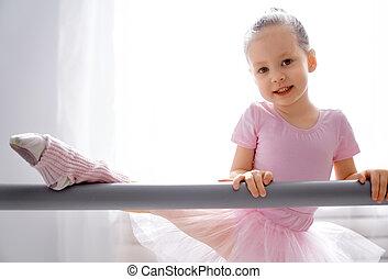 estudiar, niña, ballet.